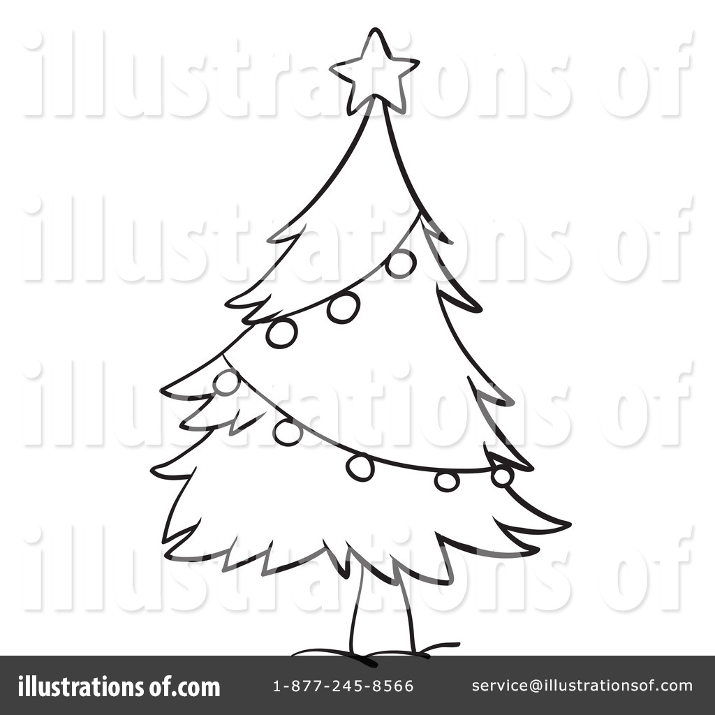 christmas tree clipart 1132192 illustration by graphics rf