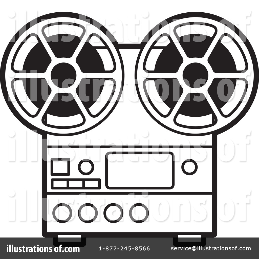Movie Projector Clipart Clipart illustration by
