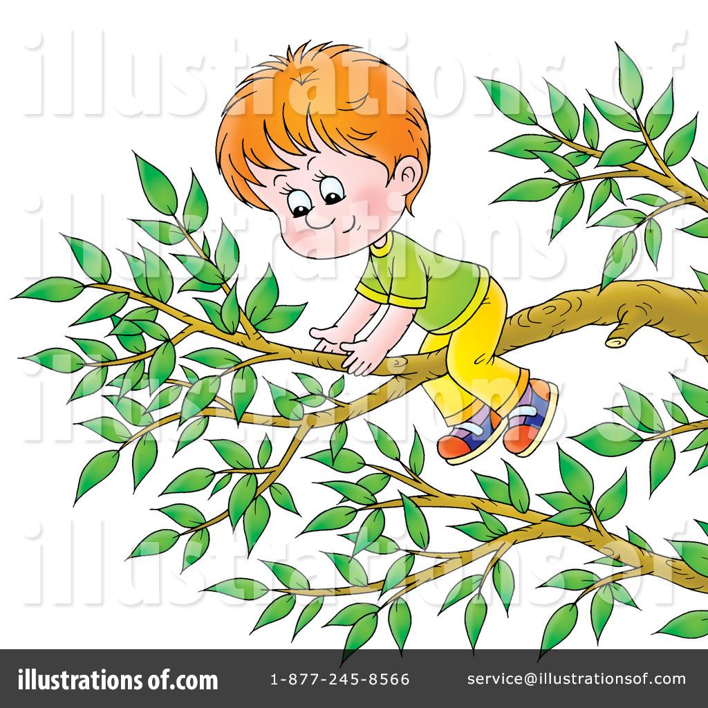 Kid Climbing Tree Climbing a Tree Clipart