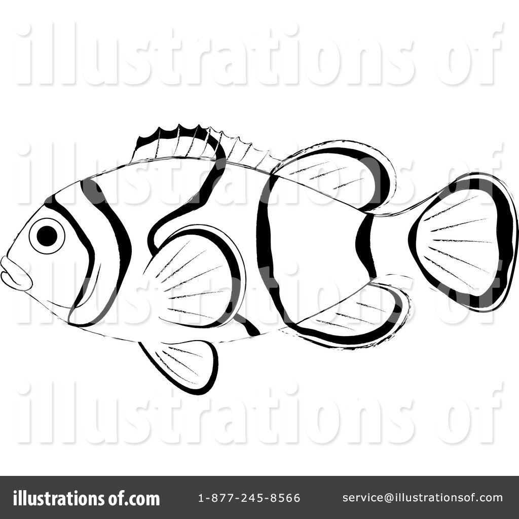 sea anemone and clownfish clip art