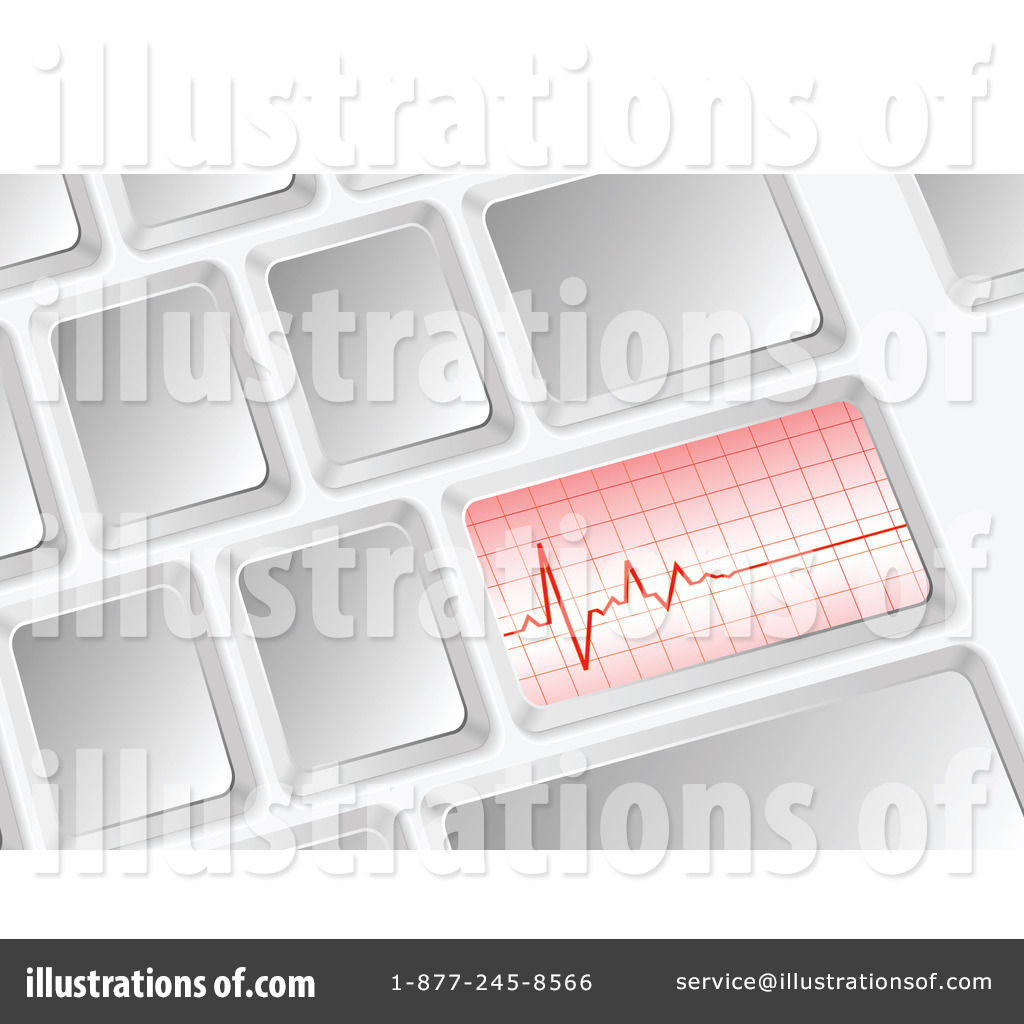 ... -Free (RF) Computer Keyboard Clipart Illustration #1218841 by