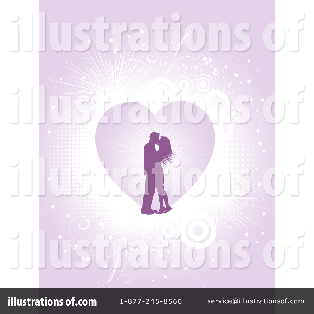 Royalty Free Rf Clipart Illustration Of A Kissing Couple ...