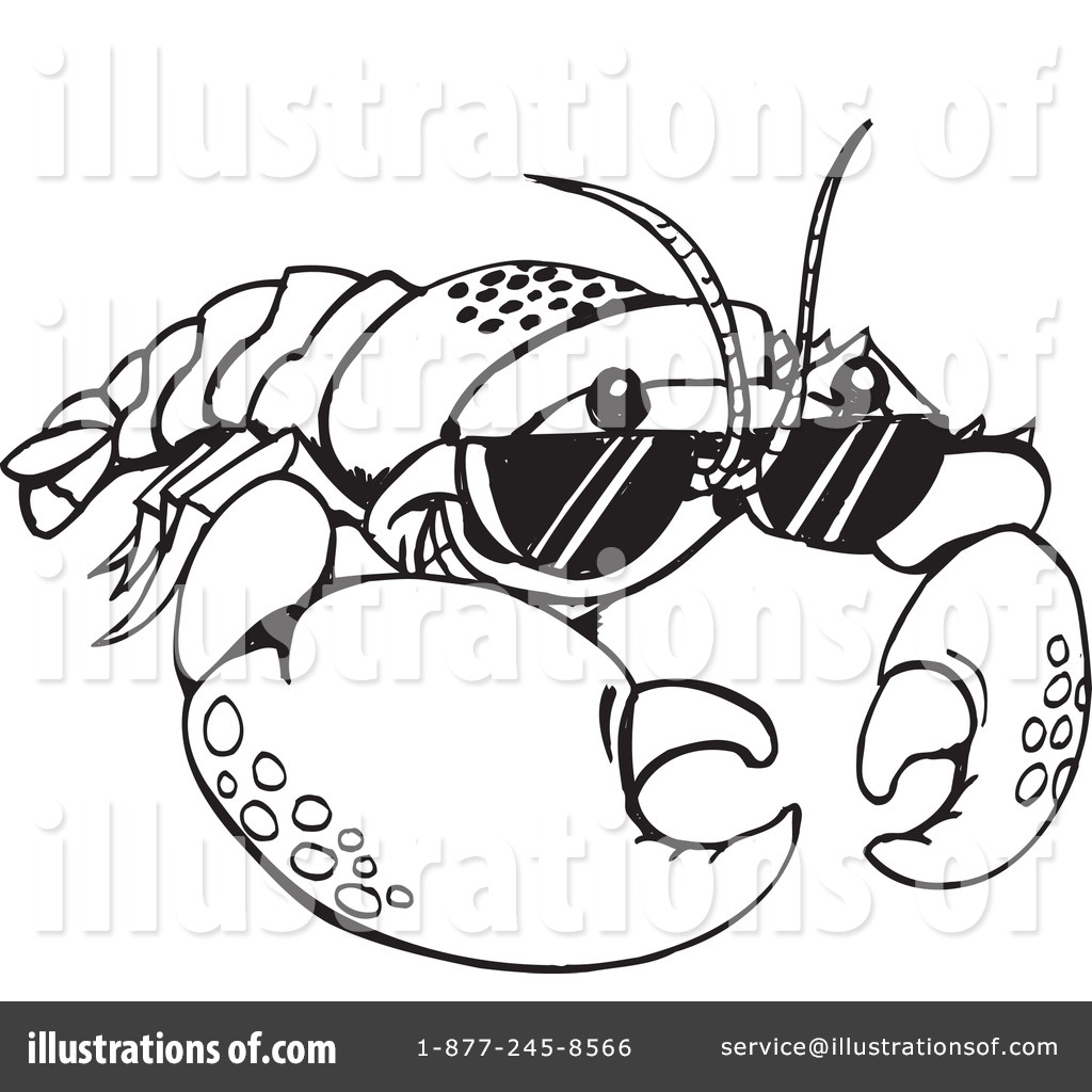 Crawfish Clipart #1110608 - Illustration by Dennis Holmes Designs