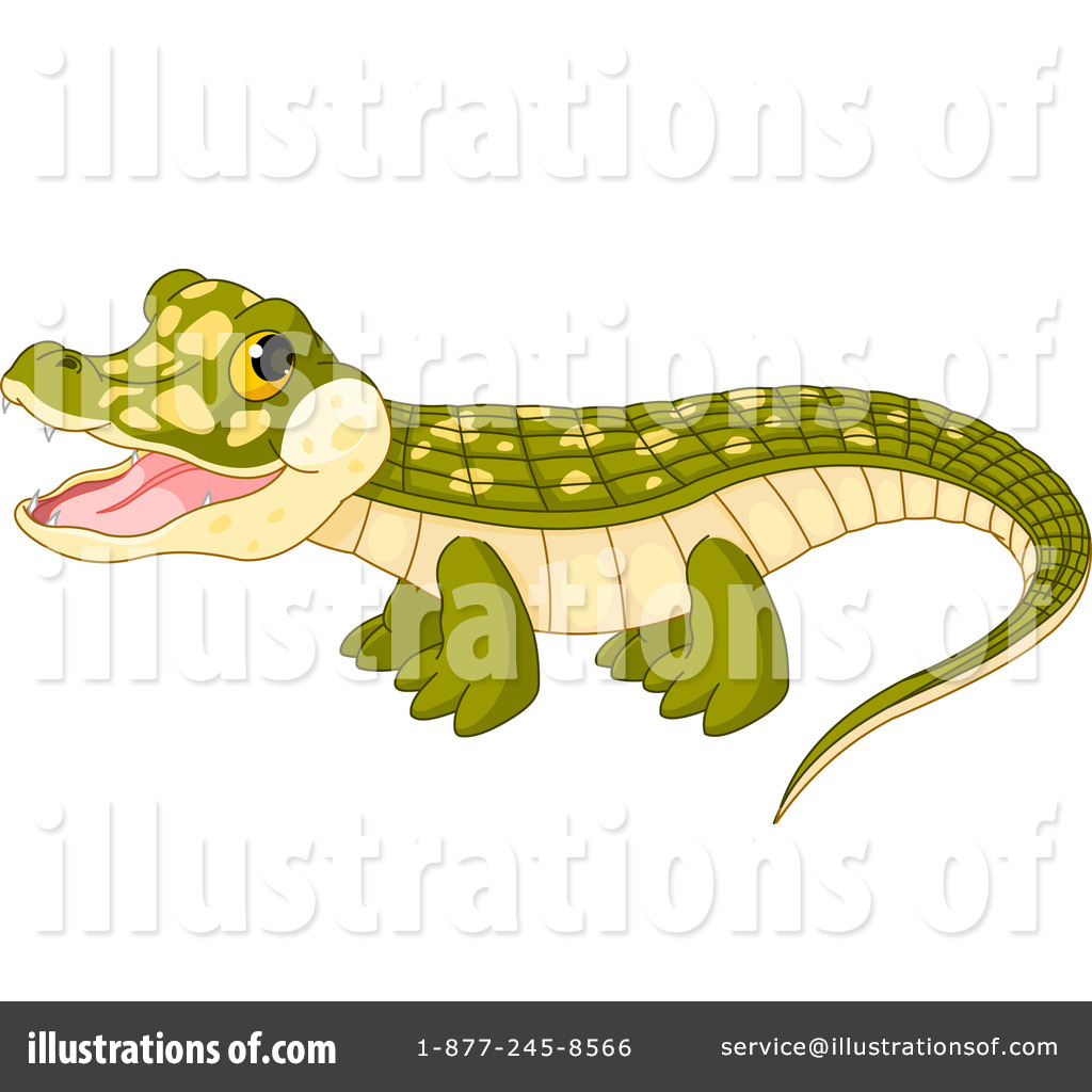 Crocodile Clipart #1081390 - Illustration by Pushkin