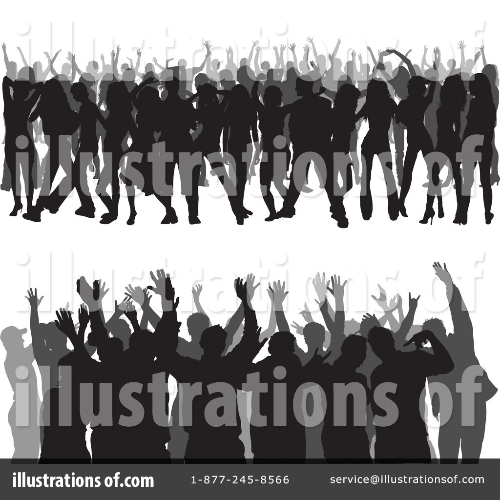 Crowd Clipart #1119453 - Illustration by dero
