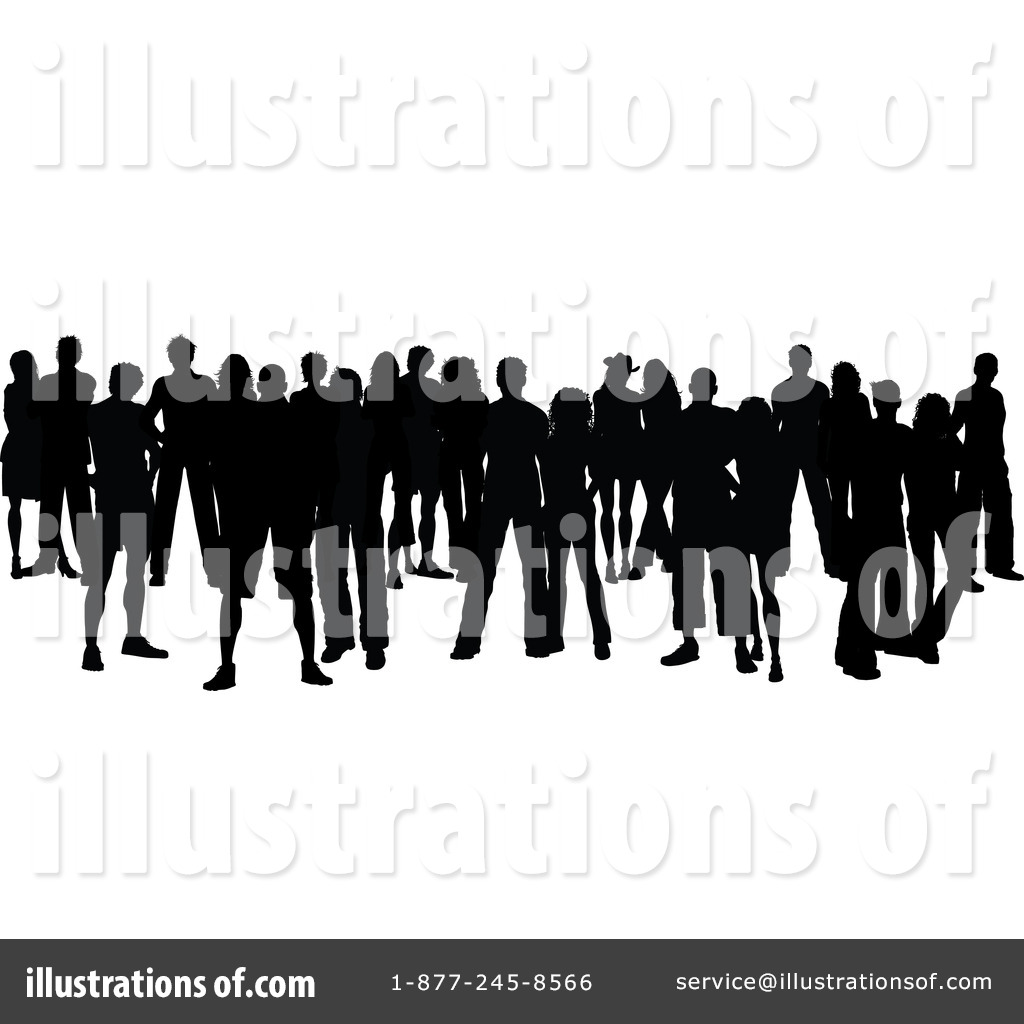 Crowd Clipart #46621 - Illustration by KJ Pargeter