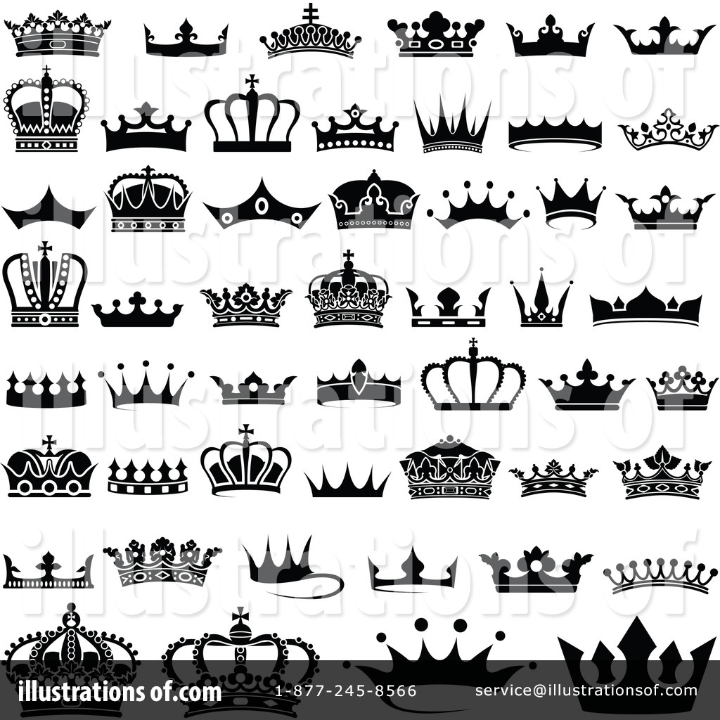 Crown Clipart #1184616 - Illustration by dero
