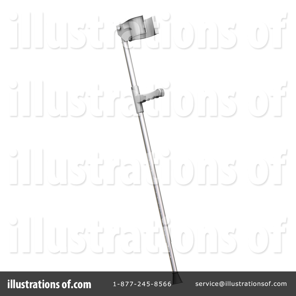 Crutches Clipart #22437 - Illustration by KJ Pargeter