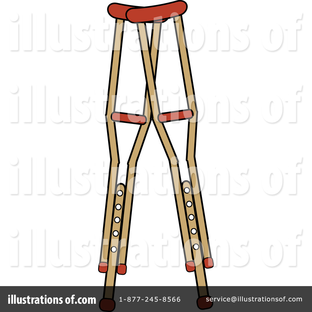Crutches Clipart 1079156 Illustration By Pams Clipart