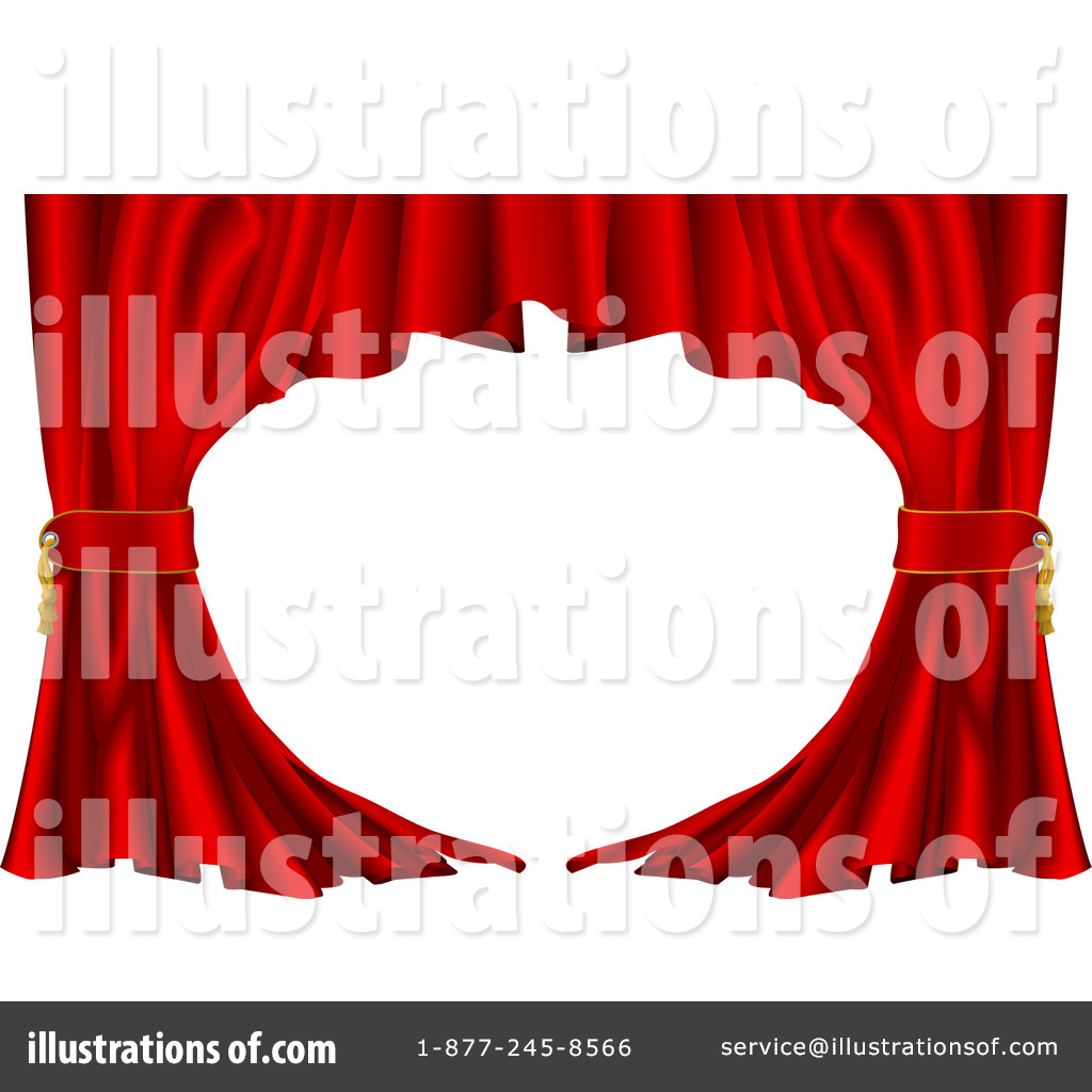 Theater curtains download free vector art stock graphics amp images - Royalty Free Rf Curtains Clipart Ilration 13904 By Atstockilration