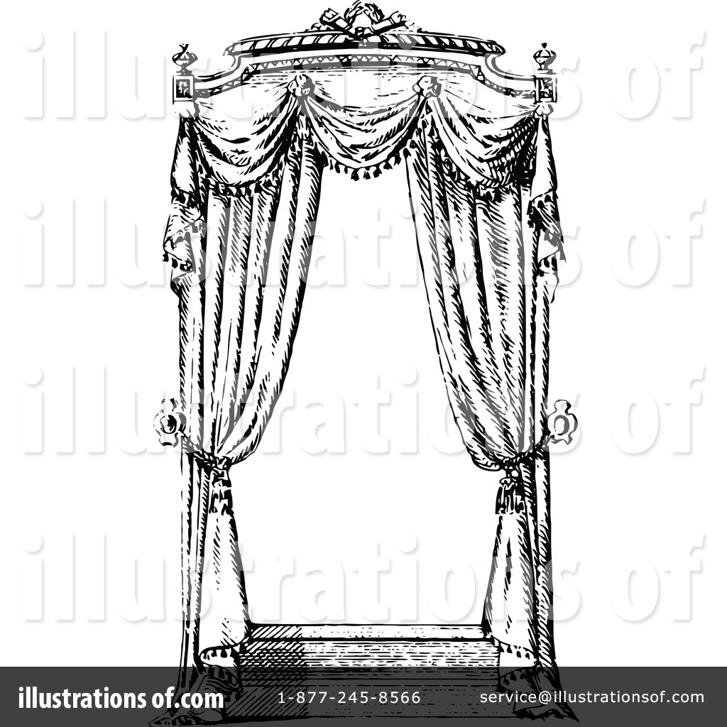 Curtains Clipart 1115301 Illustration By Prawny Vintage