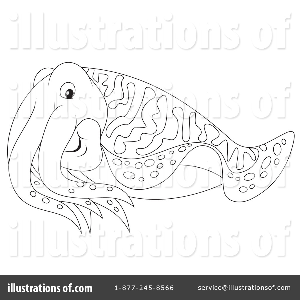 Cuttlefish clipart 1189819 illustration by alex bannykh for Cuttlefish coloring pages