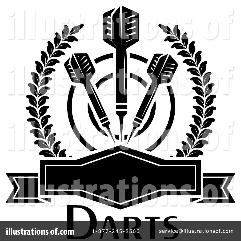 Darts Clipart #1255463 - Illustration by Vector Tradition SM