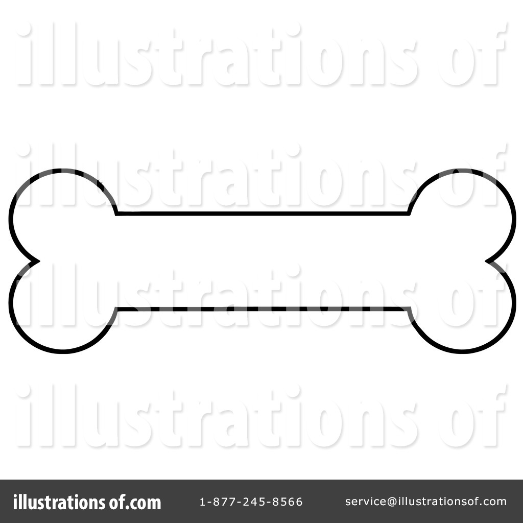 Dog Bone Clipart 1097126 Illustration By Hit Toon