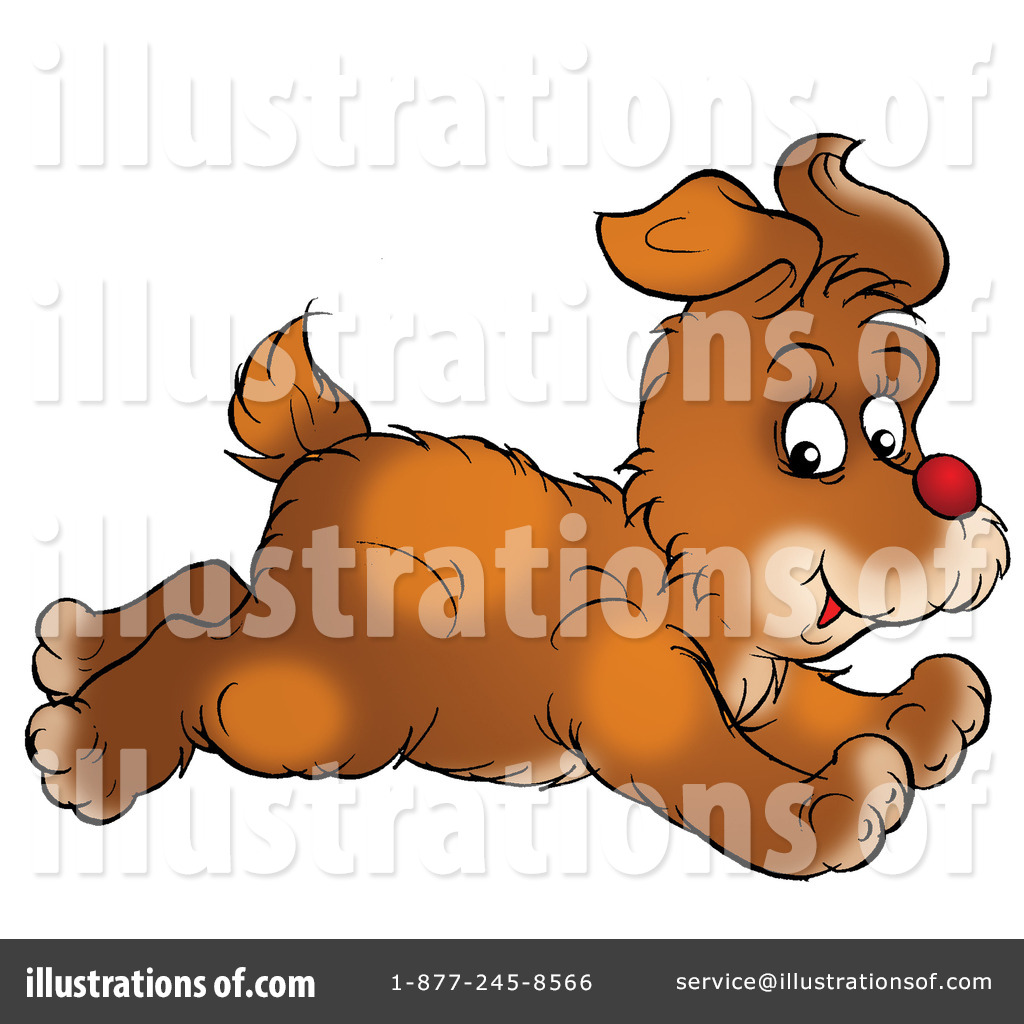 Royalty-Free (RF) Dog Clipart Illustration by Alex Bannykh - Stock