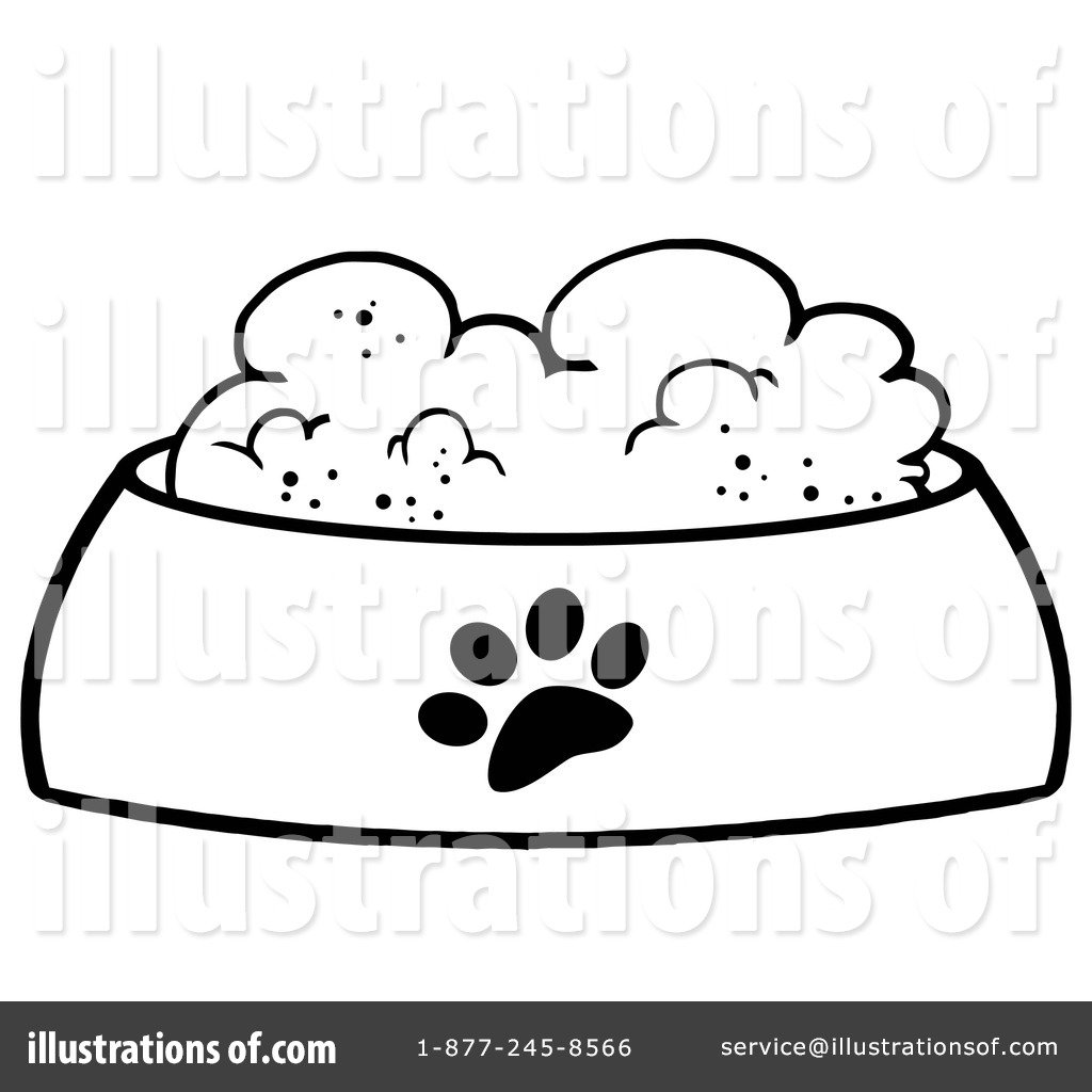 Dog Food Clipart #1097134 - Illustration by Hit Toon