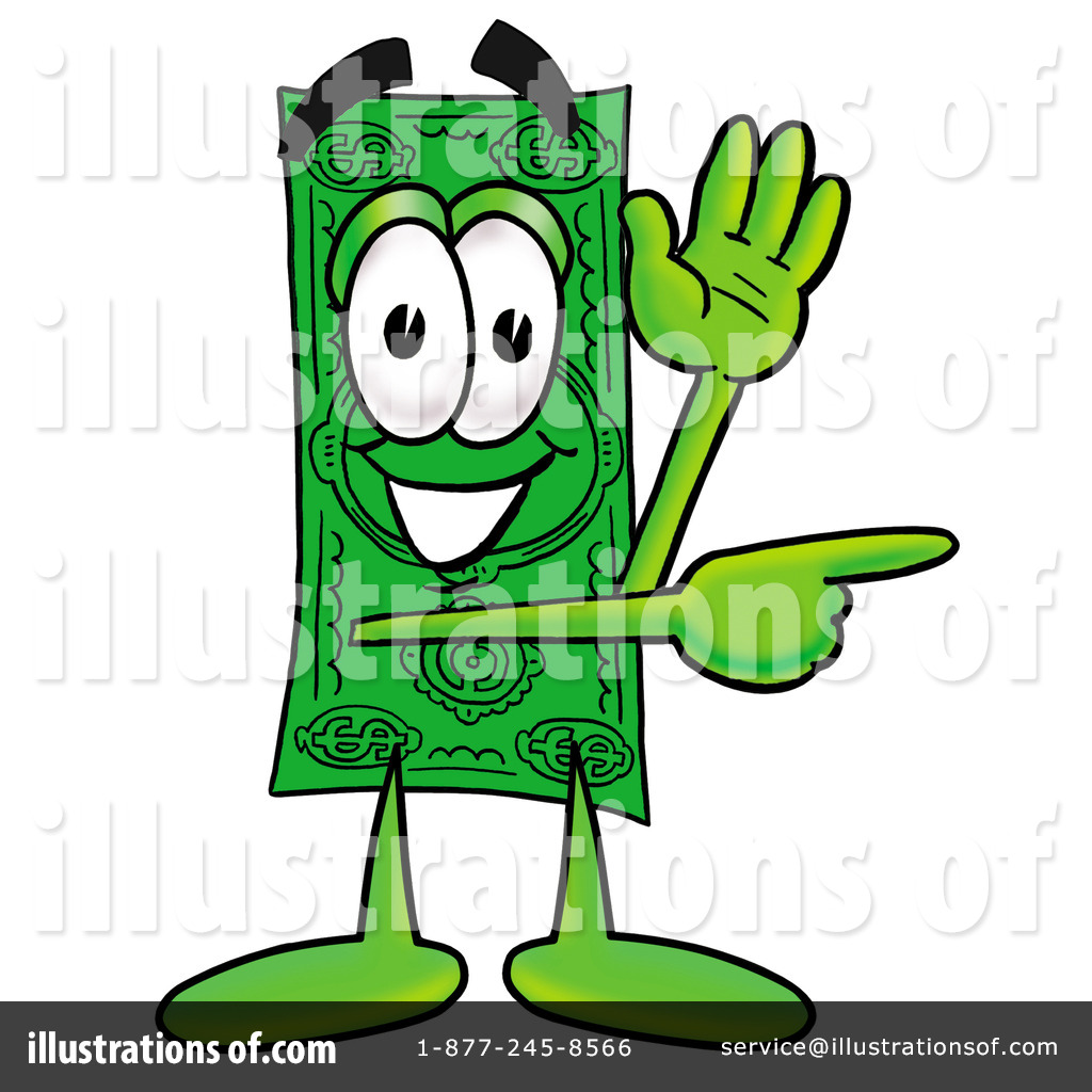 Dollar Bill Clipart #8353 - Illustration by Toons4Biz