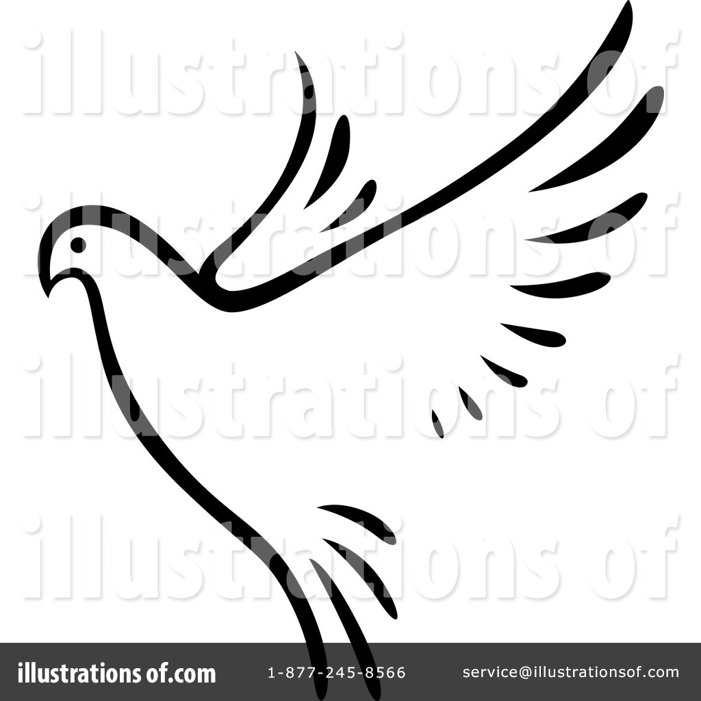 Dove Clipart #1223867 - Illustration by Vector Tradition SM