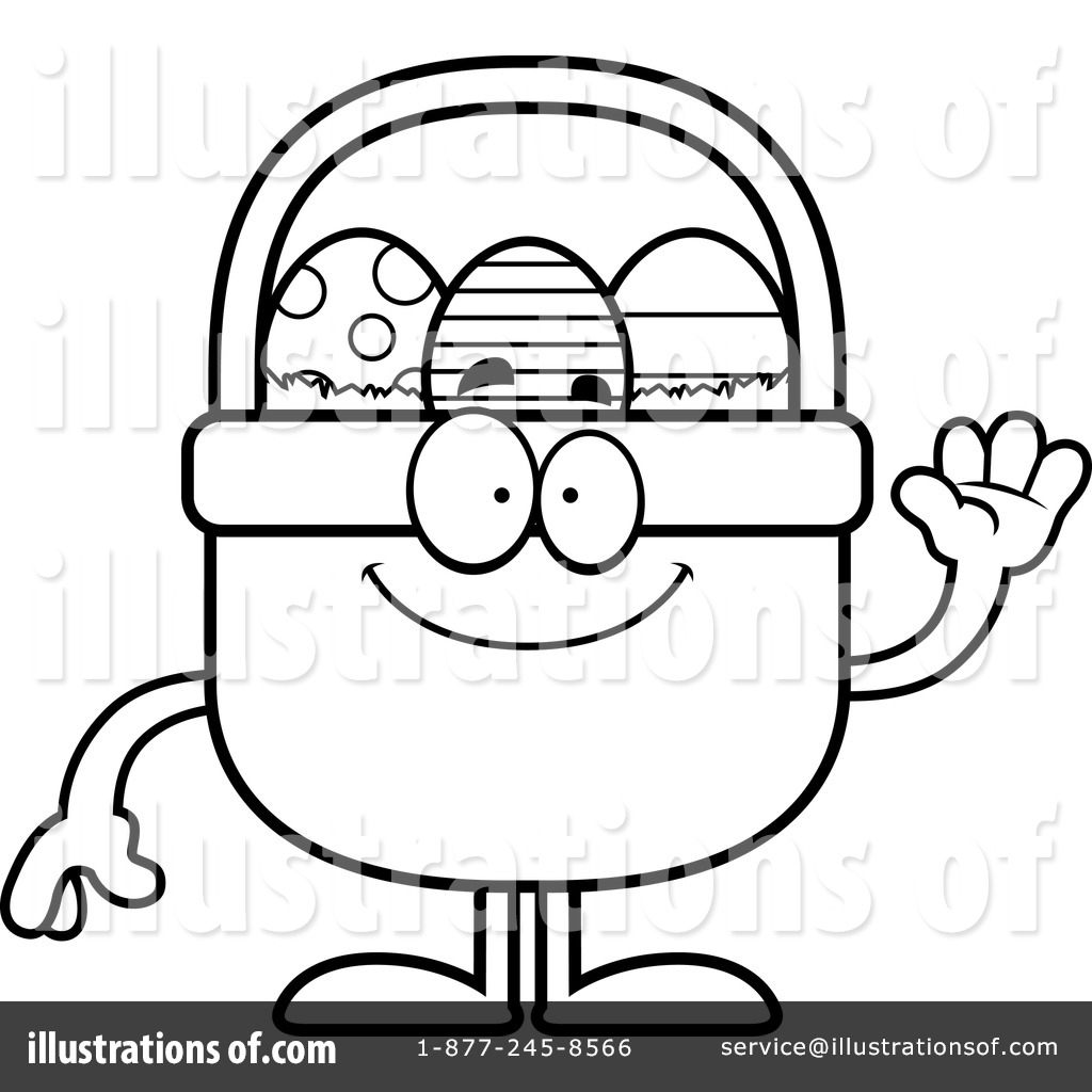 Royalty Free RF Easter Basket Clipart Illustration By Cory Thoman