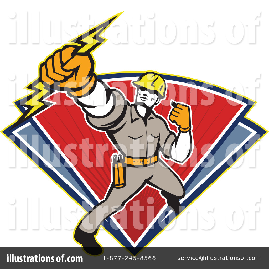 Electrician Clipart #1211638 by patrimonio | Royalty-Free (RF) Stock ...