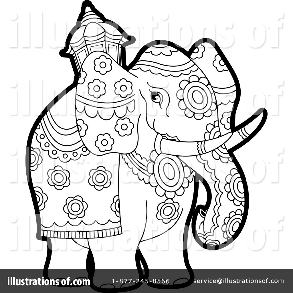 -Free (RF) Elephant Clipart Illustration by Lal Perera - Stock Sample