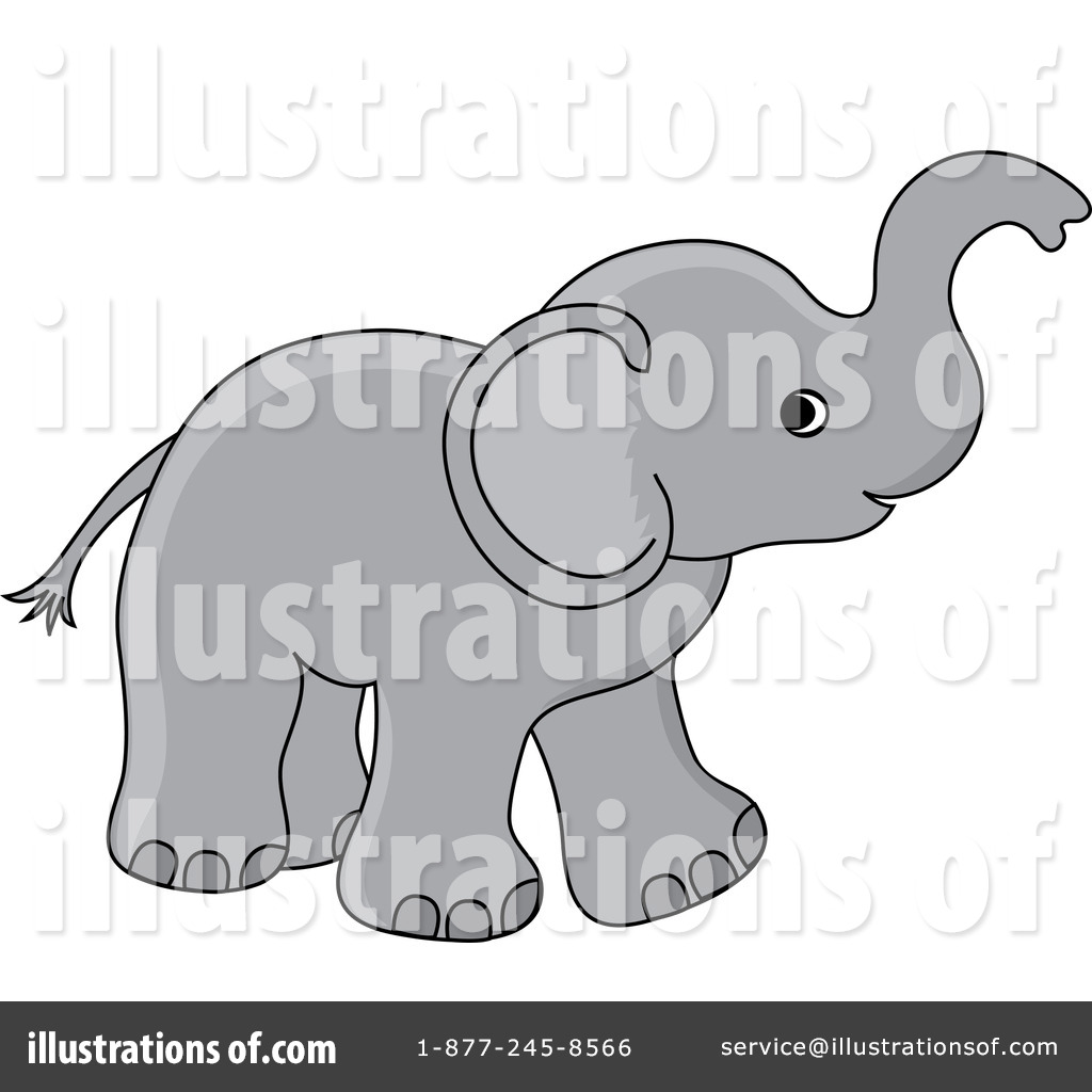 Elephant Clipart #211950 - Illustration by Pams Clipart