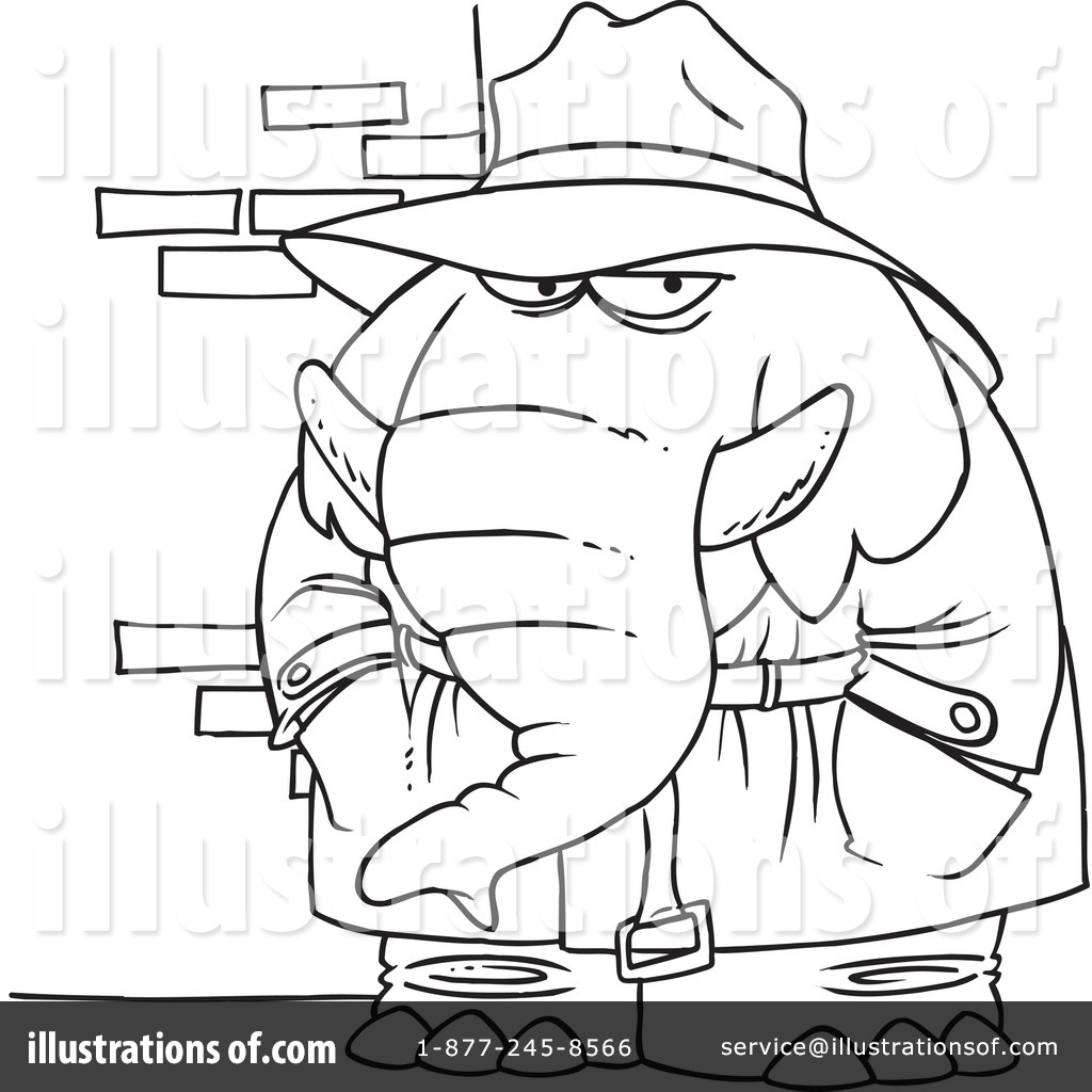 Elephant Clipart #1046467 - Illustration by toonaday