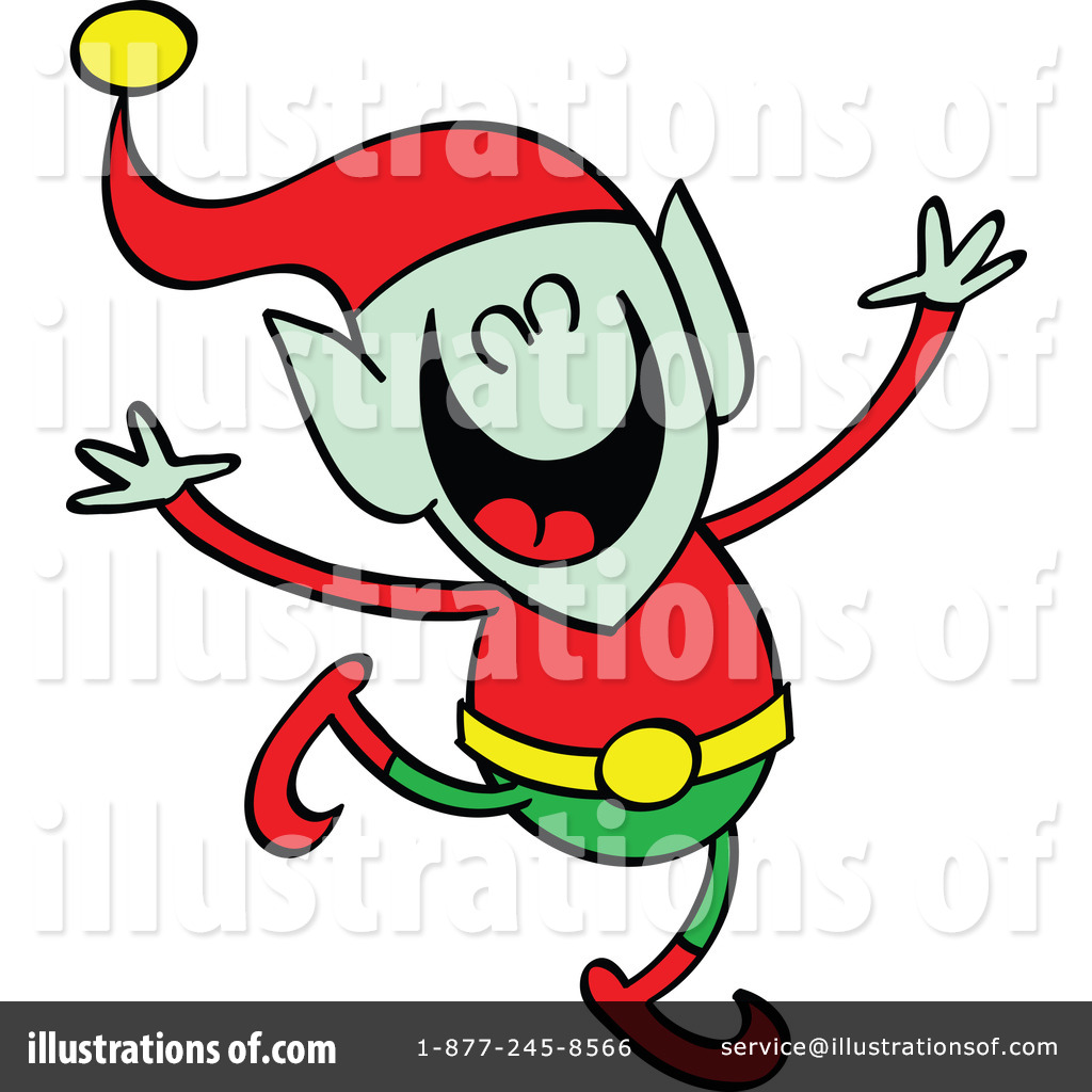 Dancing Elves Clip Art Royalty-free (rf) elf clipart illustration by ...