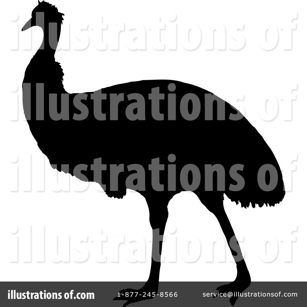 Emu Clipart #42799 - Illustration by Dennis Holmes Designs