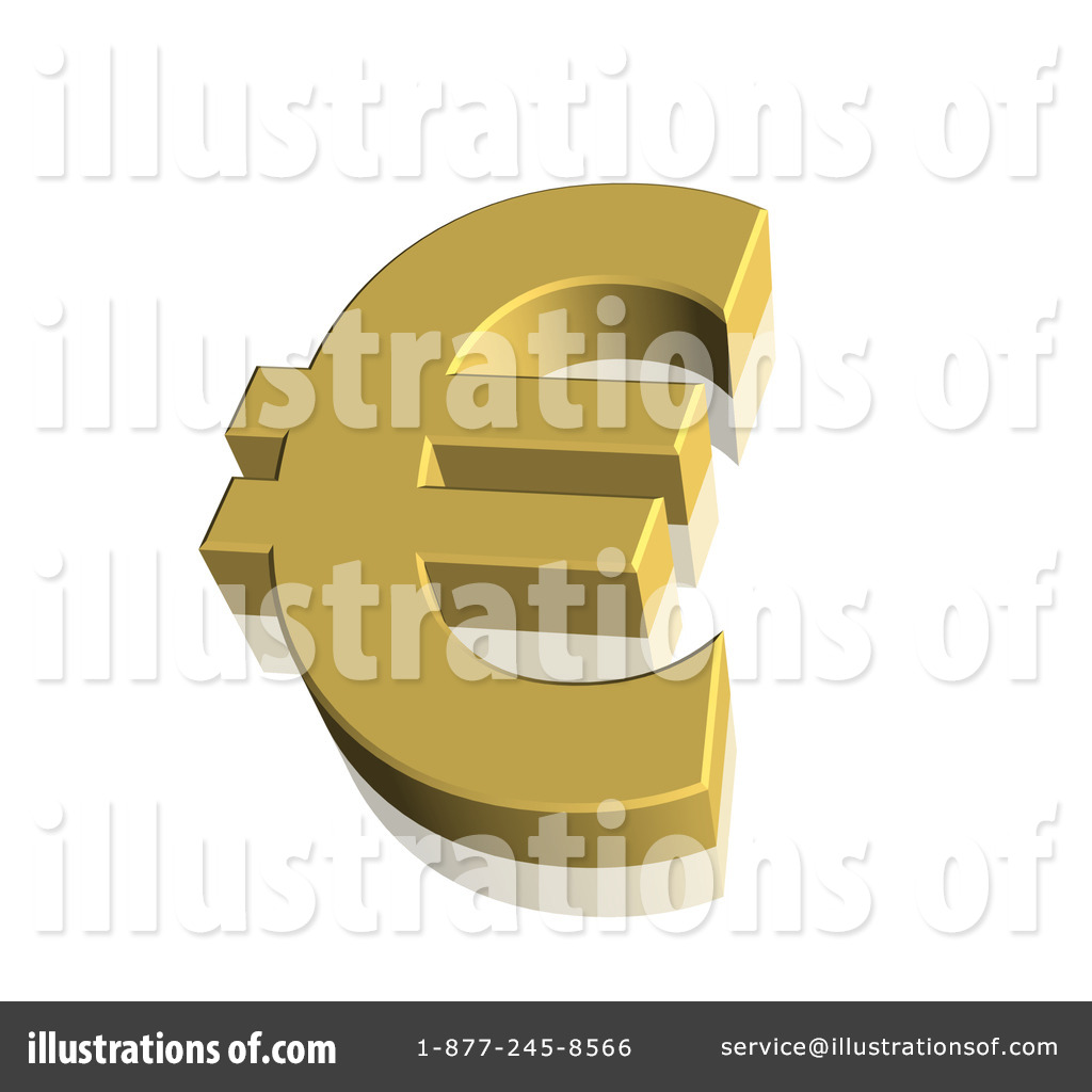 Euro Symbol Clipart #61818 - Illustration by ShazamImages