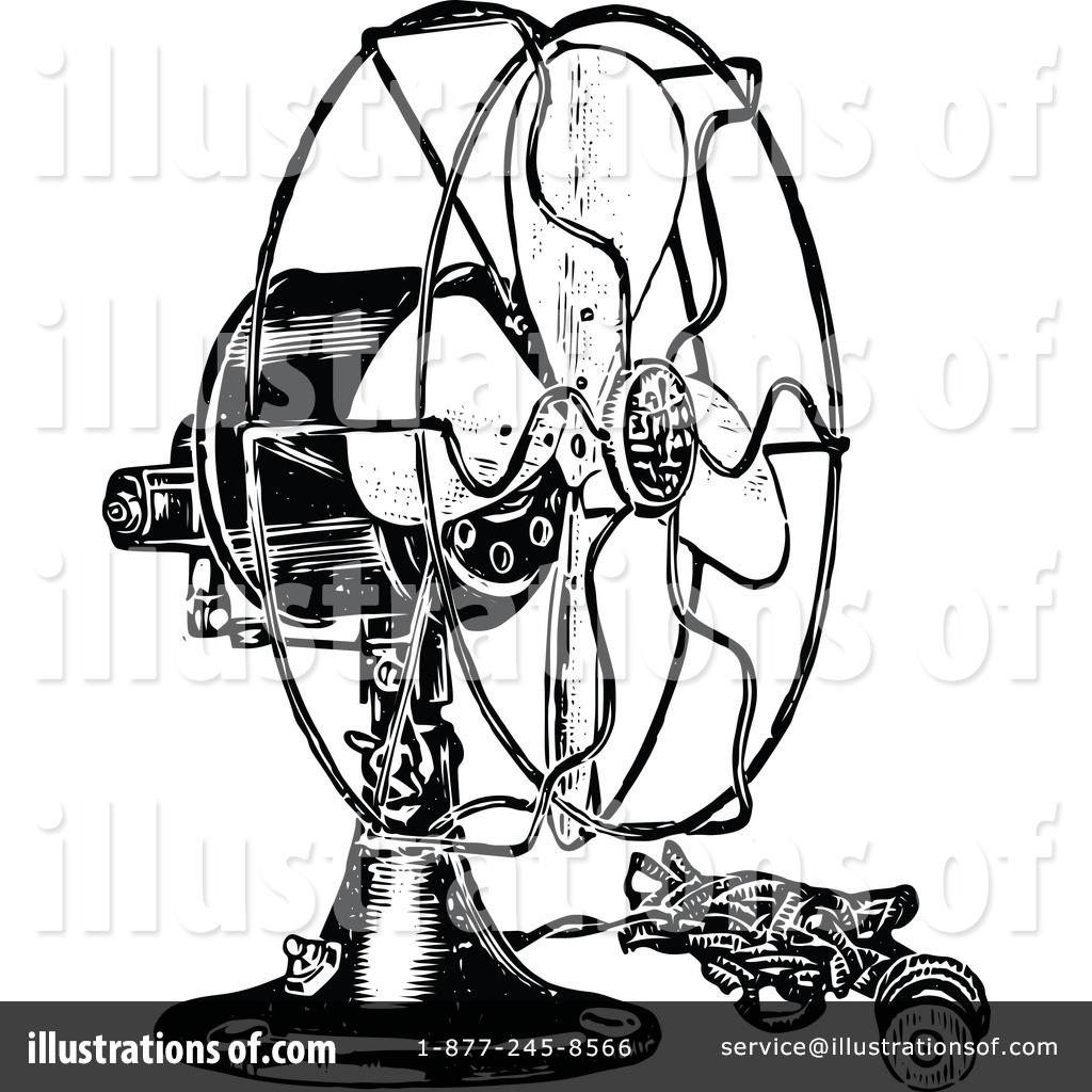 Cooling Fan Clip Art : Fan clipart illustration by prawny vintage