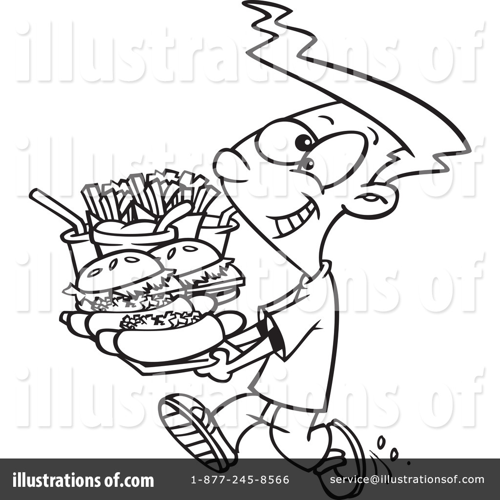 Fast Food Clipart #1052959 - Illustration by Ron Leishman