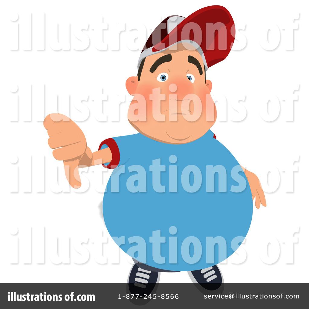 Fat Man Clipart #1108922 - Illustration by Julos