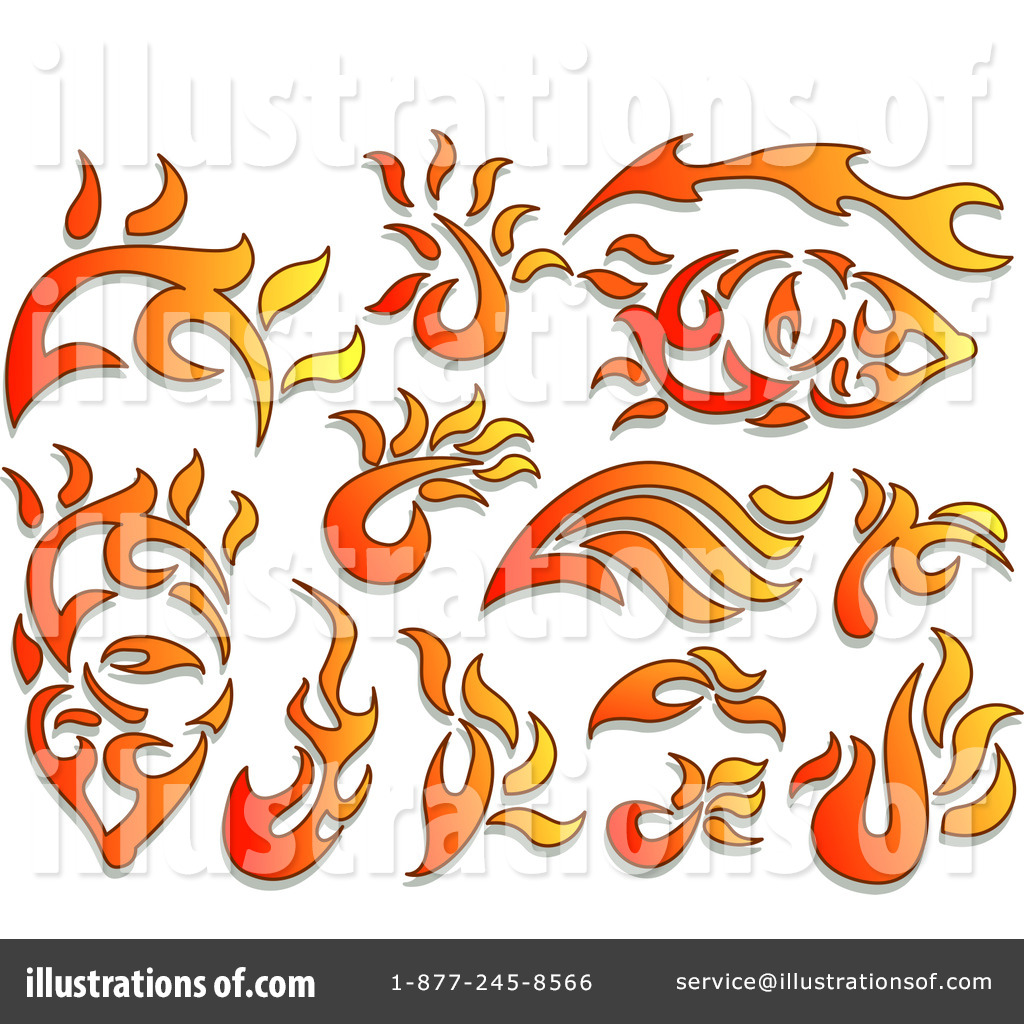 ... -Free (RF) Flames Clipart Illustration #1112332 by BNP Design Studio