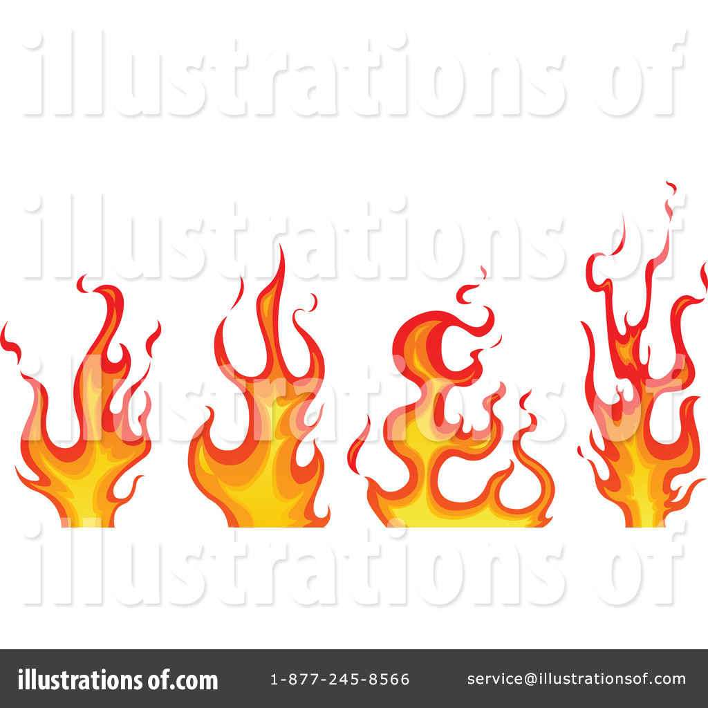 Flames Clipart #100480 - Illustration by yayayoyo