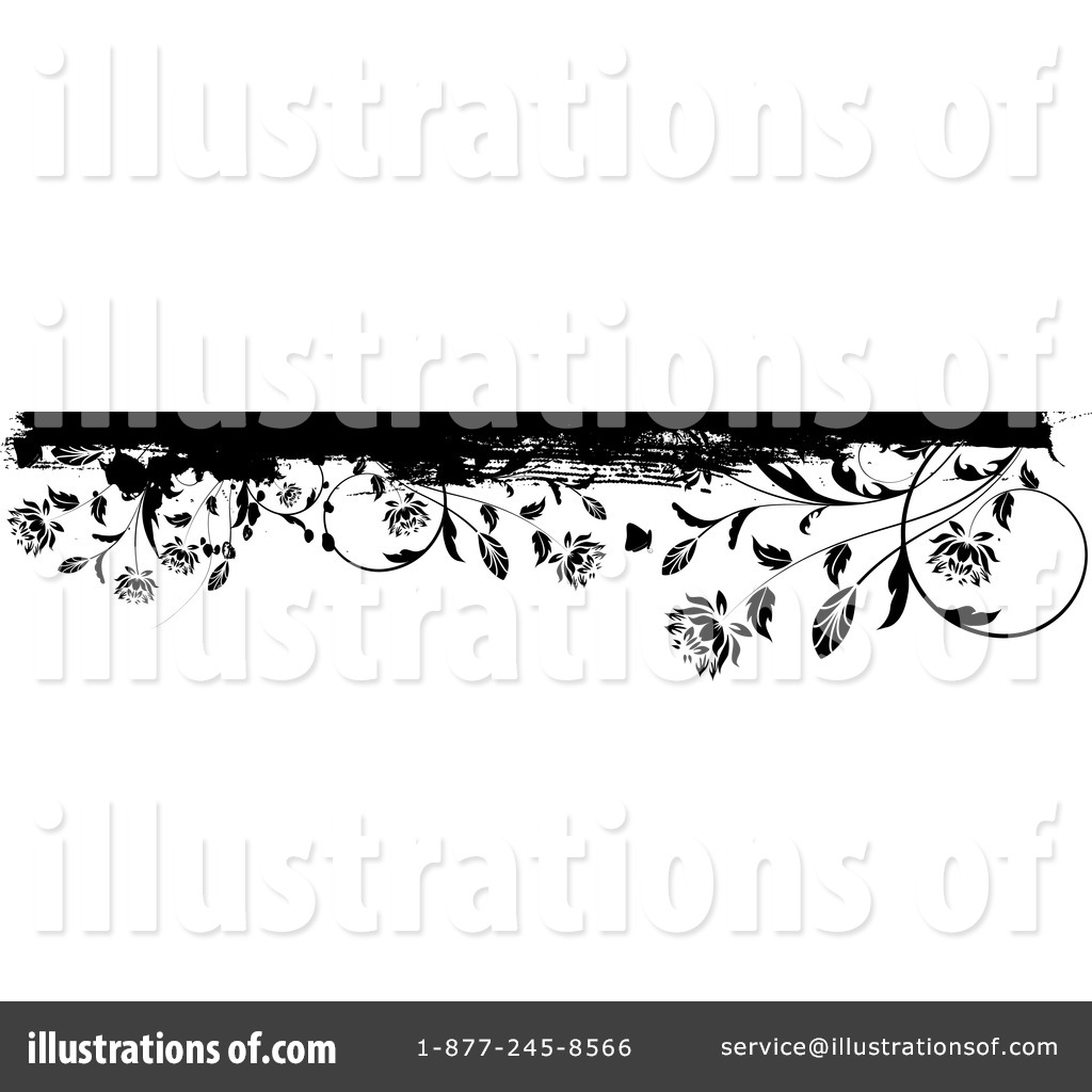 Floral Border Clipart #41083 - Illustration by KJ Pargeter