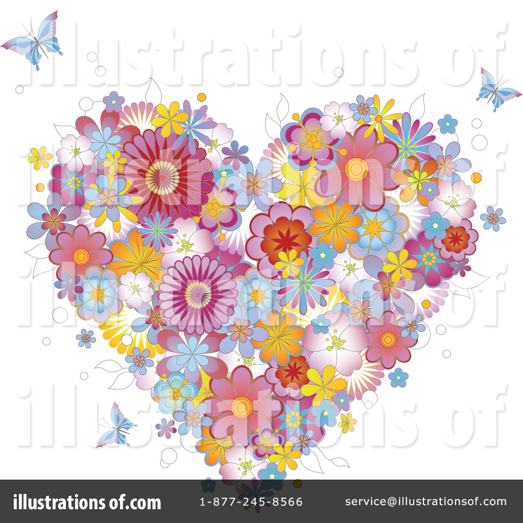 Floral Heart Clipart #81717 - Illustration by Anja Kaiser