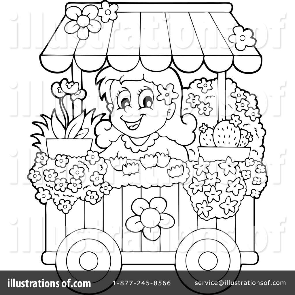 Zoella Line Drawing : Florist clipart coloring pages