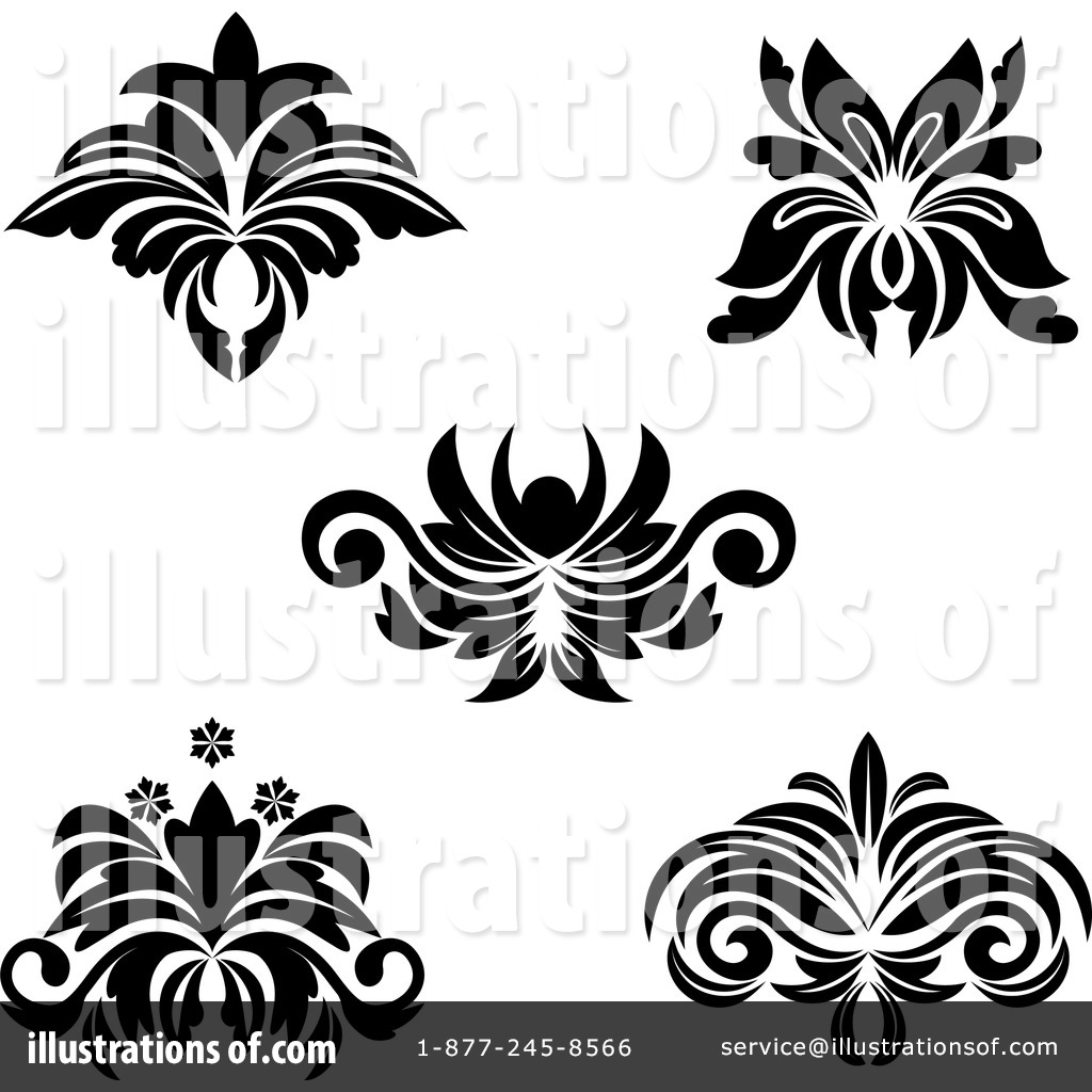 Flourishes Clipart #1063218 - Illustration by Vector Tradition SM