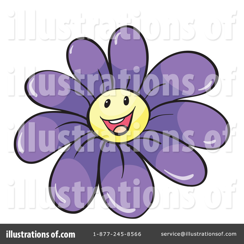 Purple Daisy Clip Art Clipart illustration by