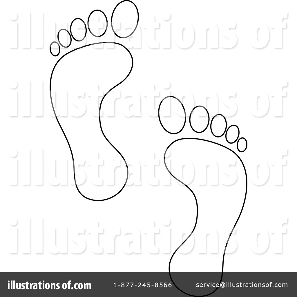 feet clipart human footprint