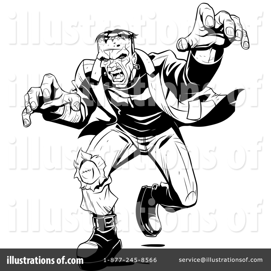 Frankenstein Clipart #34111 - Illustration by Lawrence Christmas ...