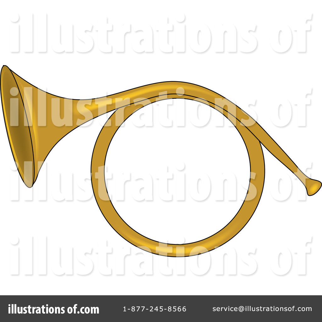 Royalty-Free  RF  French Horn Clipart Illustration by Pams Clipart    French Horn Clipart