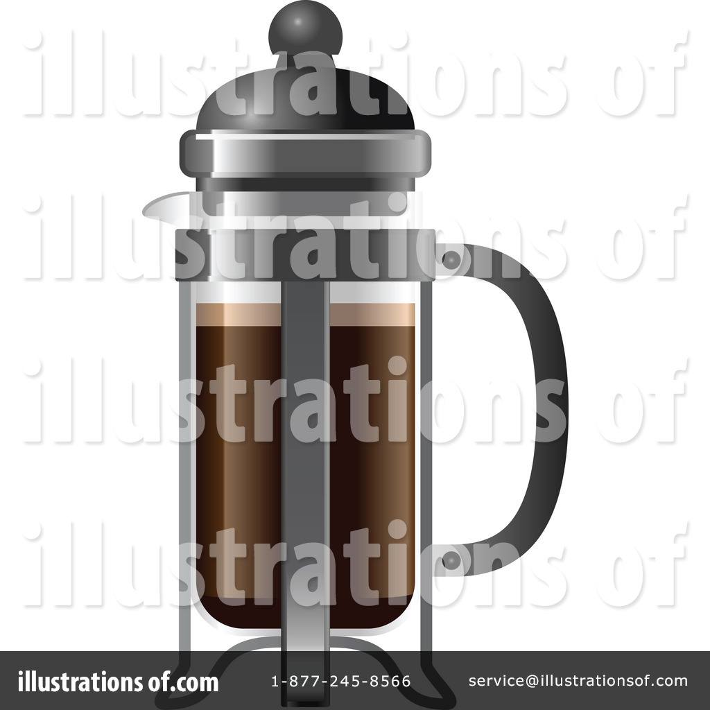 Leo French Press Coffee Maker : French Press Clipart #1120380 - Illustration by Leo Blanchette