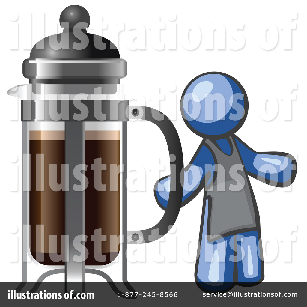 Leo French Press Coffee Maker : French Press Clipart #1120387 - Illustration by Leo Blanchette