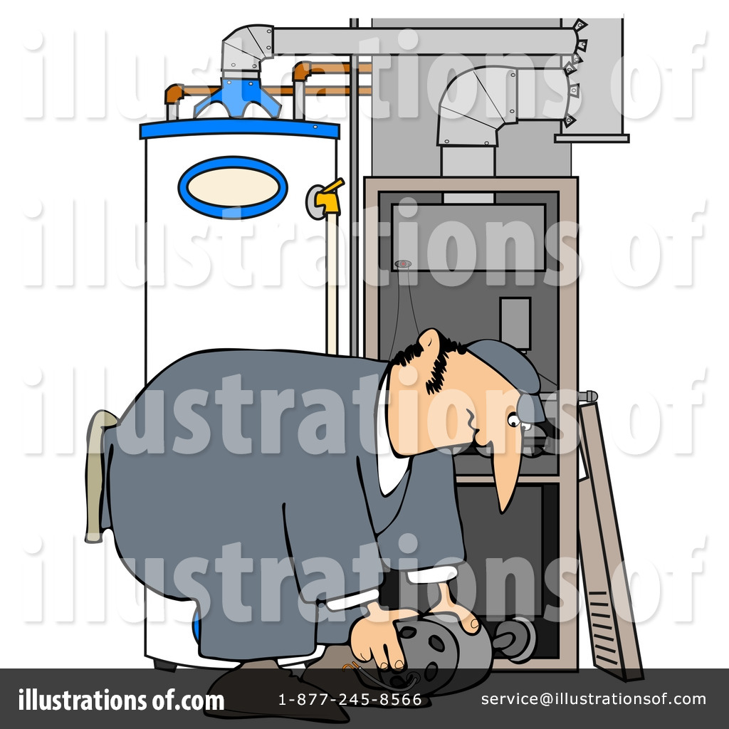 Furnace Clipart #31620 - Illustration by Dennis Cox