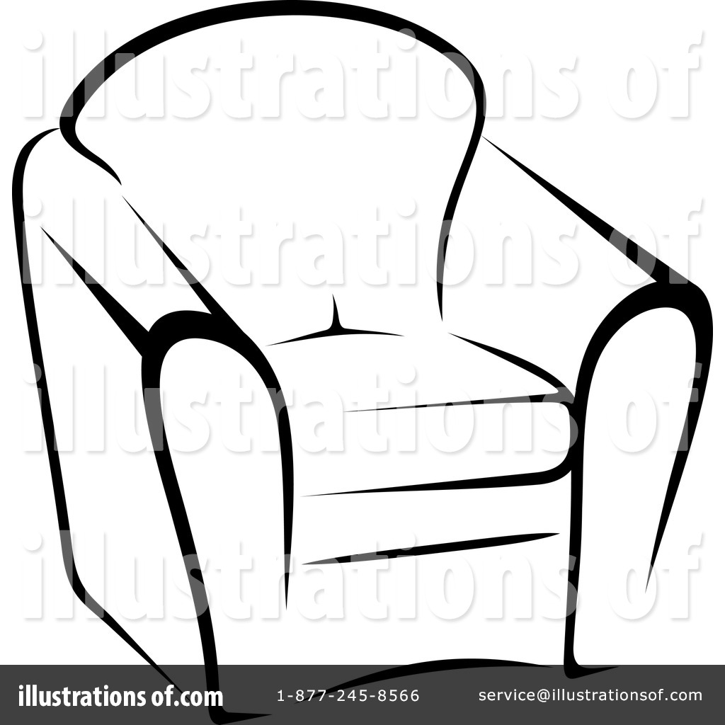 Elegant Royalty Free (RF) Furniture Clipart Illustration By Vector Tradition SM    Stock Sample