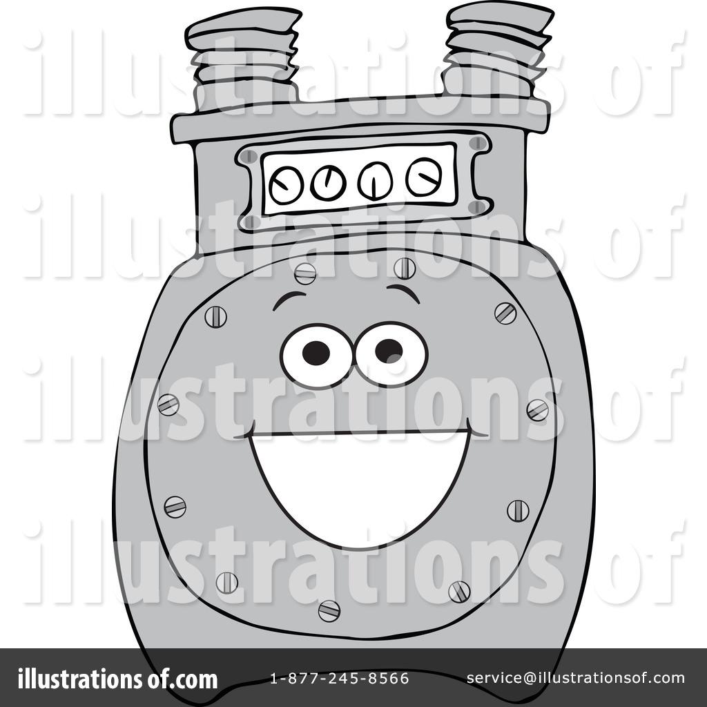 Power Meter Clip Art : Gas meter clipart illustration by djart