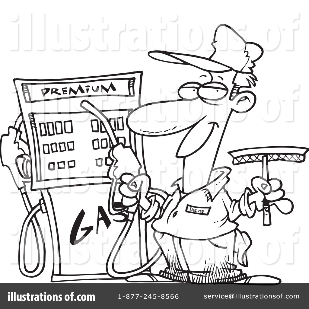 free coloring pages of gas pump