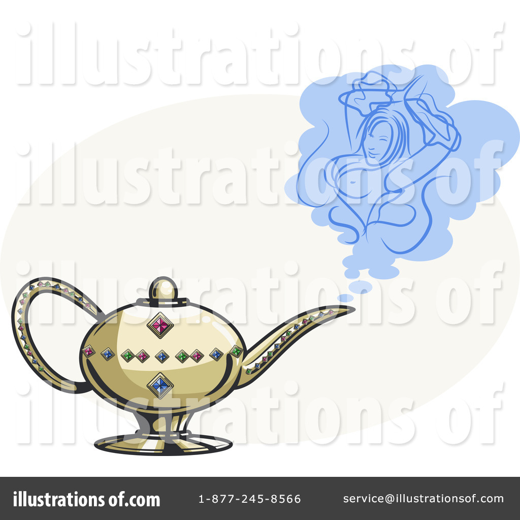 Genie lamp stock photos pictures royalty free genie - Royalty Free Rf Genie Lamp Clipart Illustration By R Formidable Stock Sample